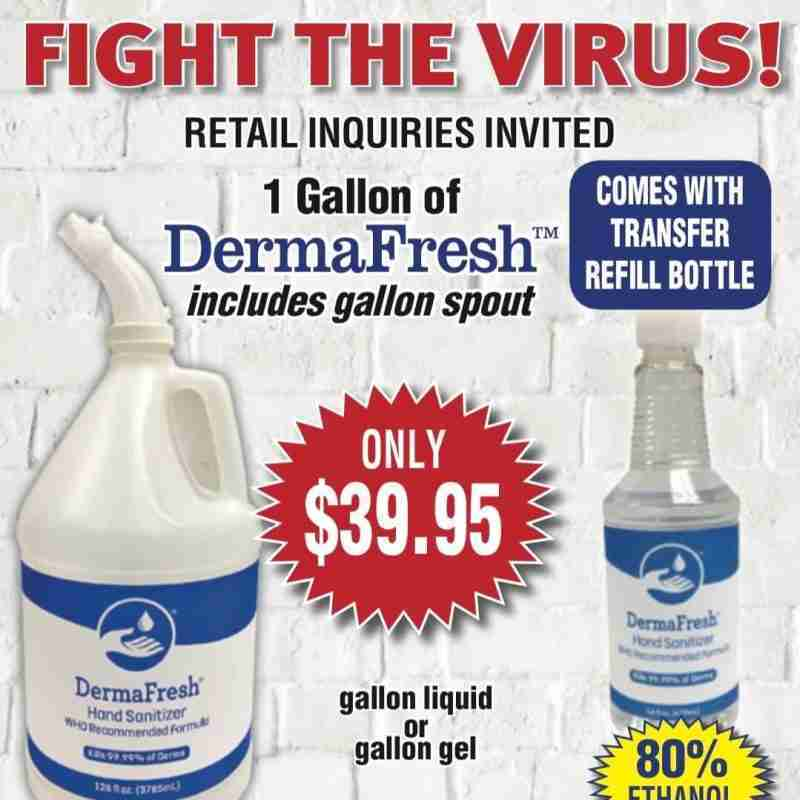 Derma Fresh gallon hand sanitizer