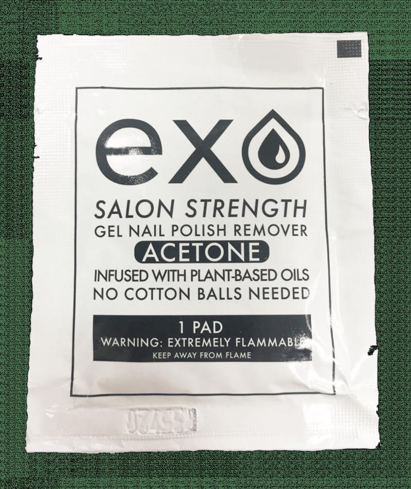 exo supply gel nail polish remover pads